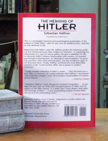 The Meaning of Hitler, Haffner, Sebastian - Back Lane Books